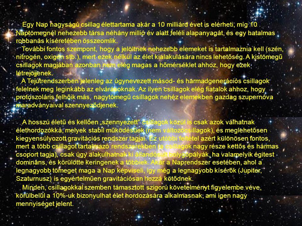 Más csillagok körül kialakuló bolygórendszerek valószínűsége (fb) Sokáig kérdés volt, hogy a Naprendszeren kívül is léteznek-e bolygószerű kísérők.