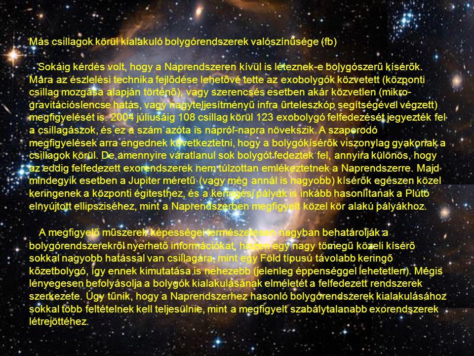Életre alkalmas égitestek száma egy megfelelő rendszeren belül (nb) Bonyolultabb szerves molekulák keletkezéséhez megfelelő feltételekkel rendelkező égitestek számának megbecslésénél egyelőre csak a Naprendszerbéli tapasztalatokra támaszkodhatunk.