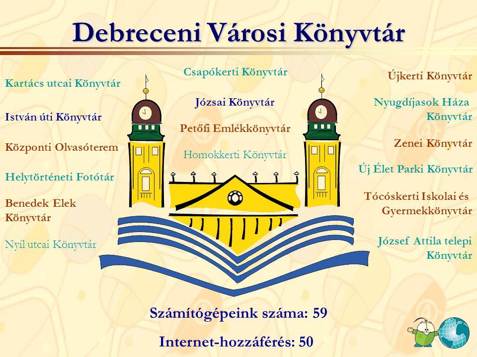 Internet Fiesták a Városi Könyvtárban 2002. Újkerti Könyvtár 2006. Programok több helyszínen