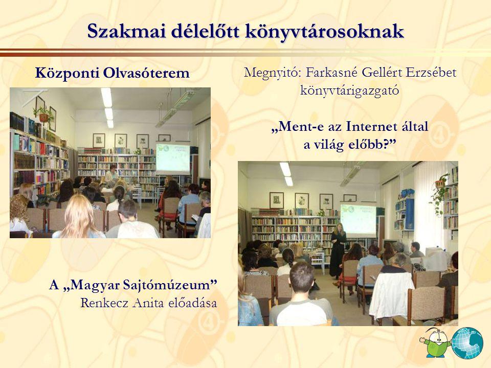 Szakmai délelőtt könyvtárosoknak A Neumann-ház három szolgáltatása a MEK-ben Sudár Annamária előadása Lázár Ervin virtuális kiállítás Mann Jolán előadása.