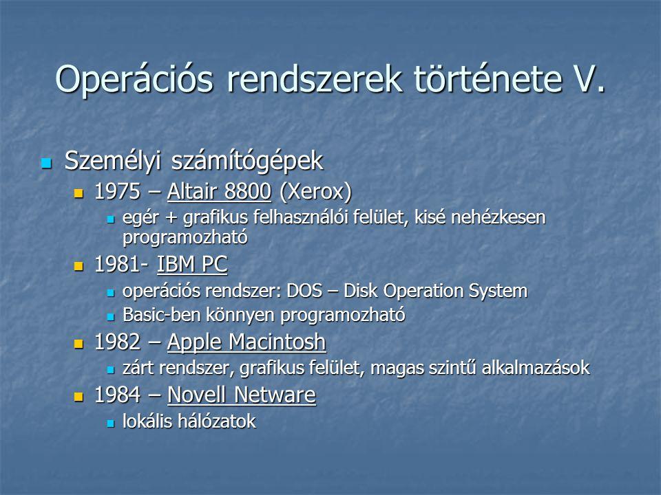 MS Windows II.