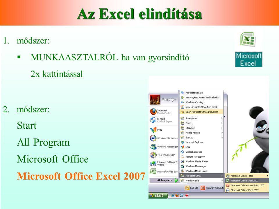  Microsoft Office programcsomag része   Mire is használható?   Adatbevitel   Adatfeldolgozás   számolások   Táblázatszerű megjelenítés  