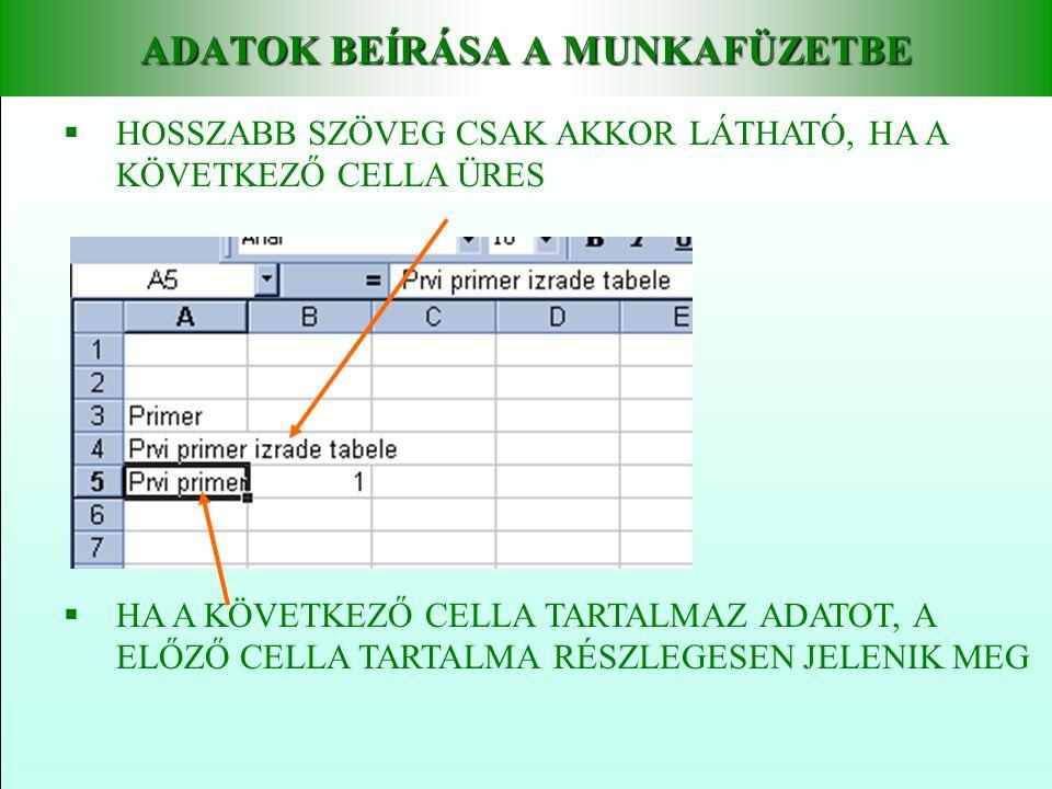 CÍMZÉS Az Excel programon belül 2 féle címzést (hivatkozást) különböztetünk meg • Relatív és • Abszolút A relatív címzés egy meglévő cella tartalmához viszonyítva jeleníti meg a tartalmat.