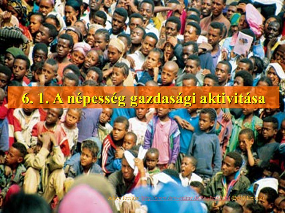 6. 1. A népesség gazdasági aktivitása A kép forrása: http://www,dsw-online.de/diashow.html (Bevölkerung)http://www,dsw-online.de/diashow.html