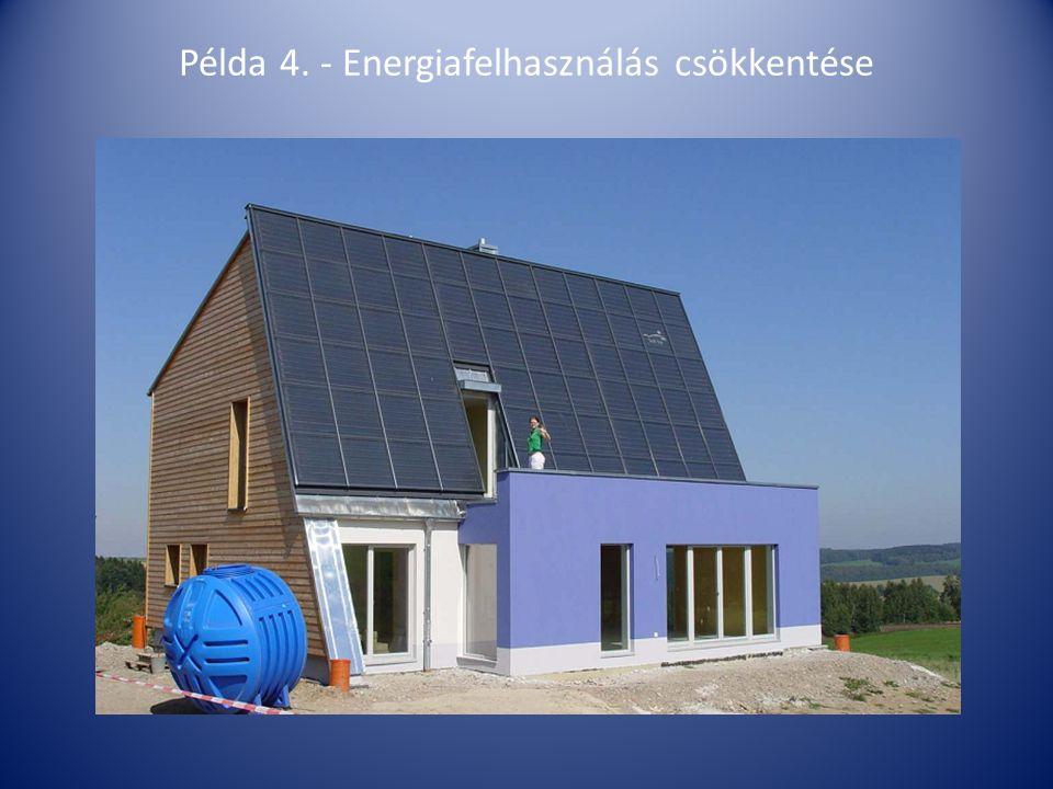Példa 4. - Energiafelhasználás csökkentése