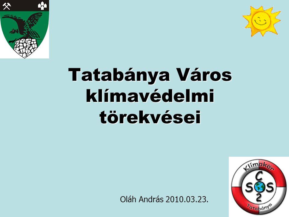 Tatabánya Város klímavédelmi törekvései Oláh András 2010.03.23.