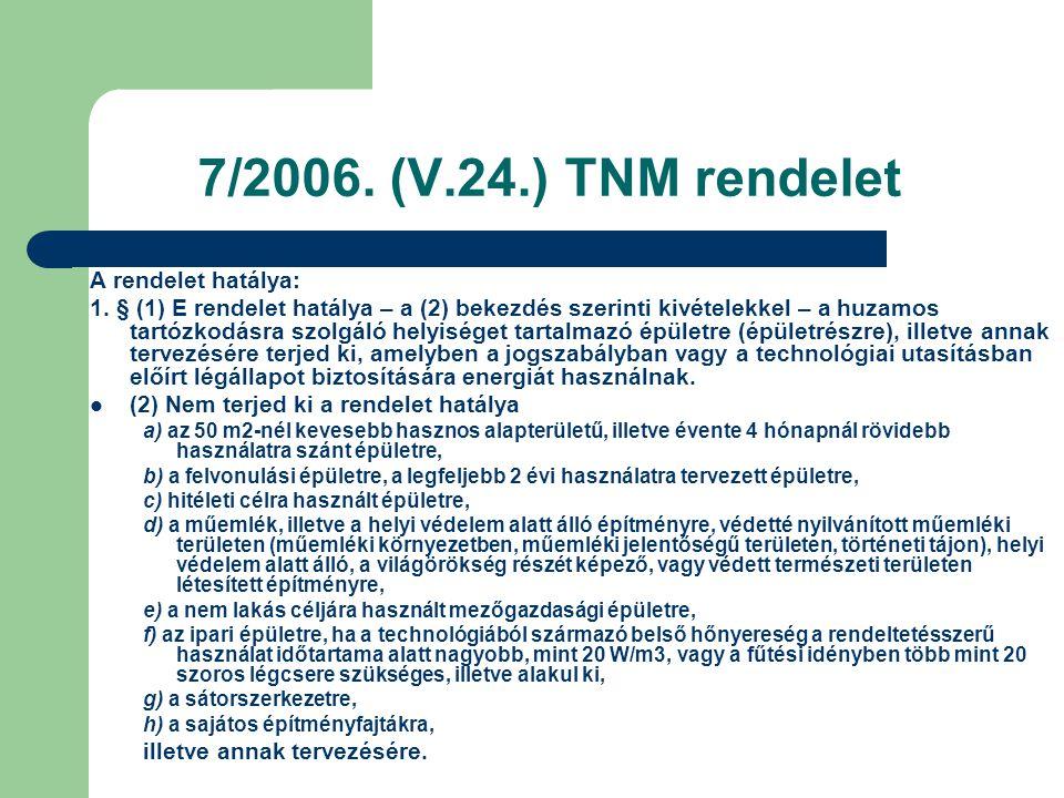 7/2006. (V.24.) TNM rendelet A rendelet hatálya: 1. § (1) E rendelet hatálya – a (2) bekezdés szerinti kivételekkel – a huzamos tartózkodásra szolgáló