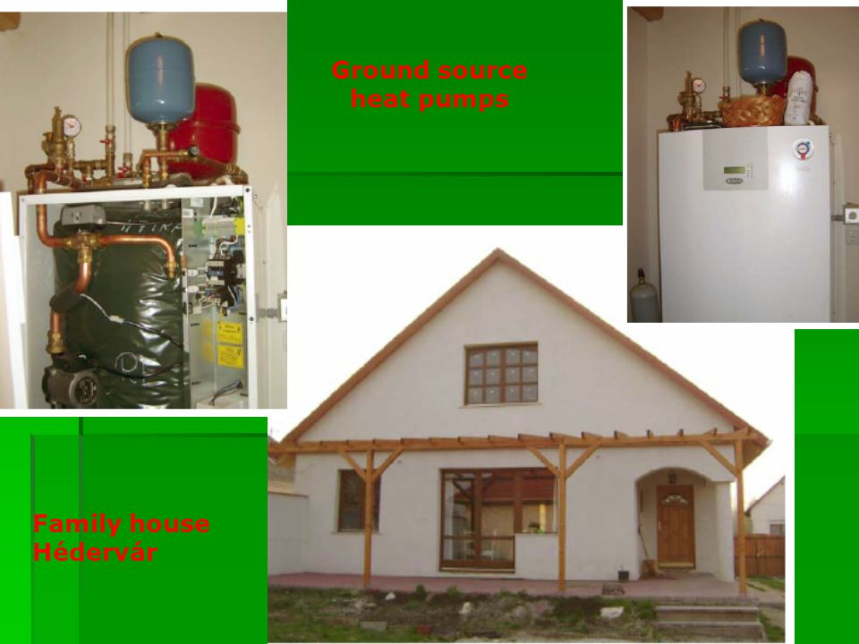 Family house Hédervár Ground source heat pumps
