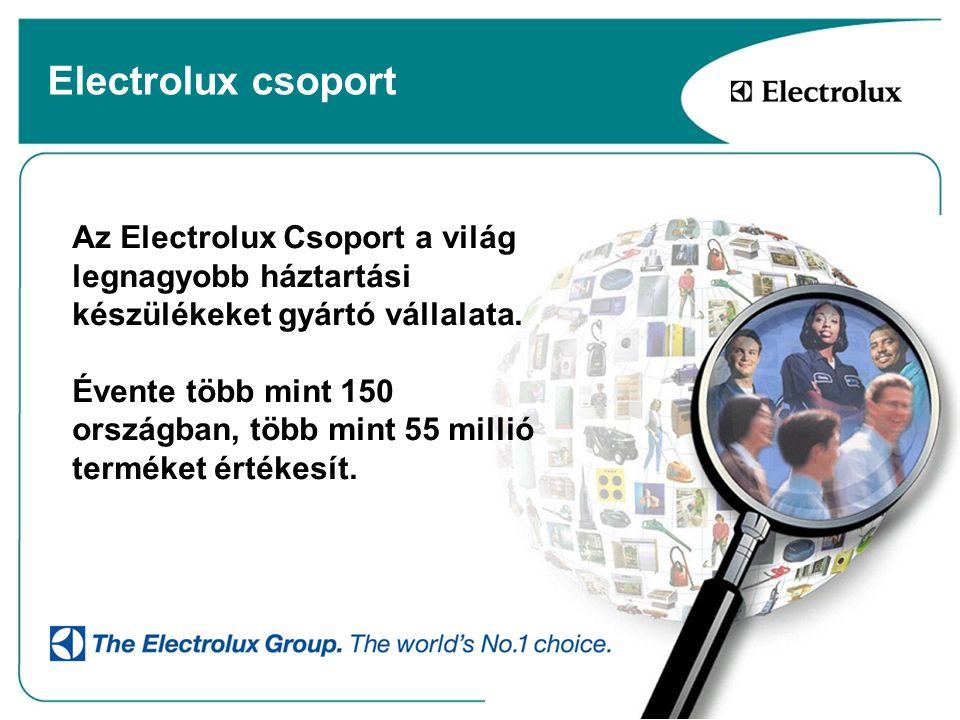 Electrolux csoport Az Electrolux Csoport a világ legnagyobb háztartási készülékeket gyártó vállalata. Évente több mint 150 országban, több mint 55 mil