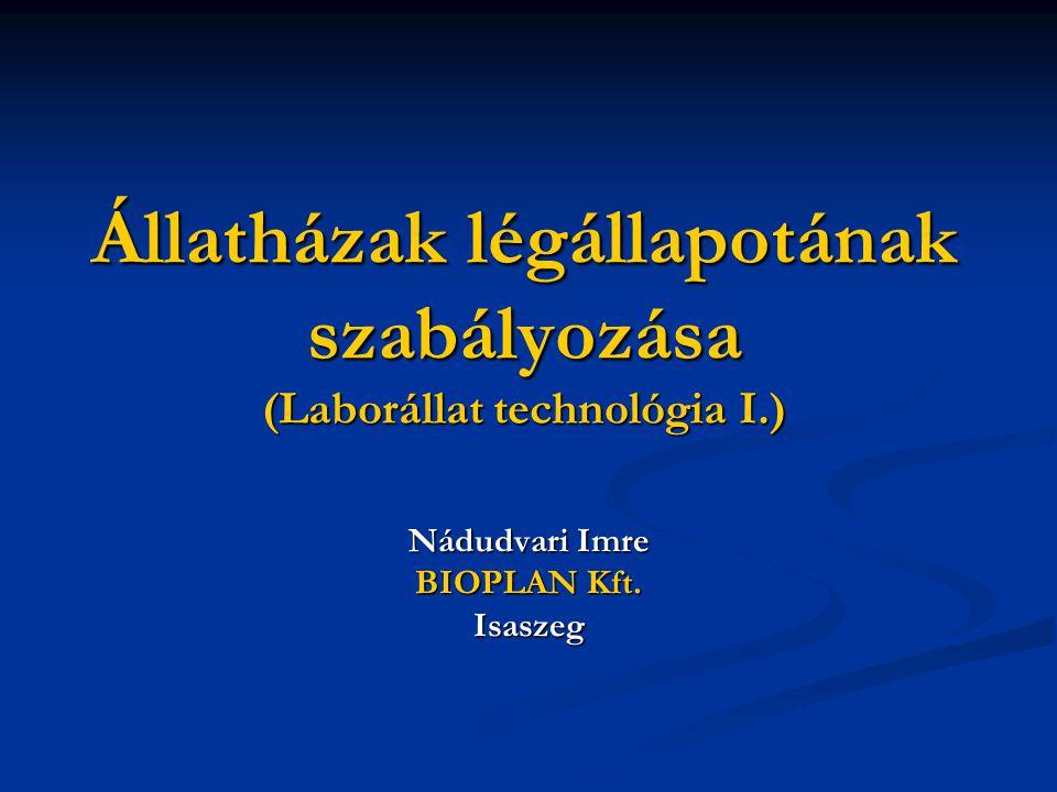 Állatházak légállapotának szabályozása (Laborállat technológia I.) Nádudvari Imre BIOPLAN Kft.