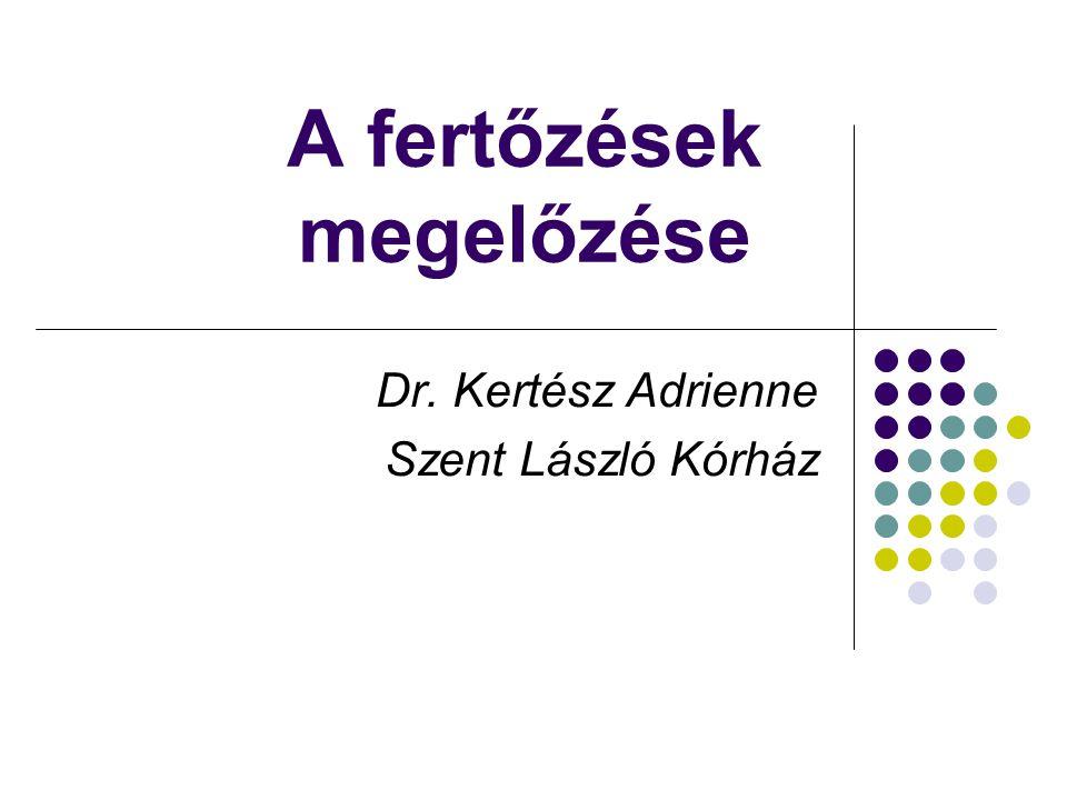 A fertőzések megelőzése Dr. Kertész Adrienne Szent László Kórház