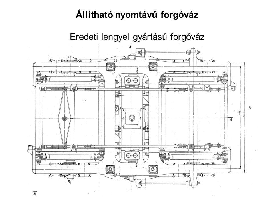 Állítható nyomtávú forgóváz Eredeti lengyel gyártású forgóváz