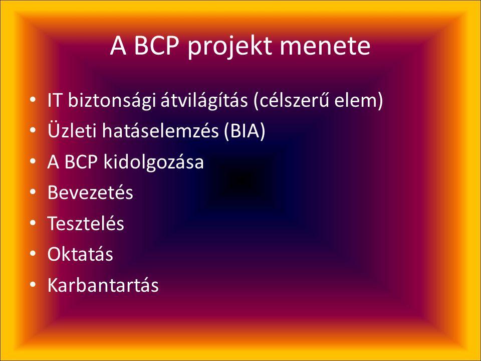 A BCP-DRP szükségessége költségkorlát időkorlát