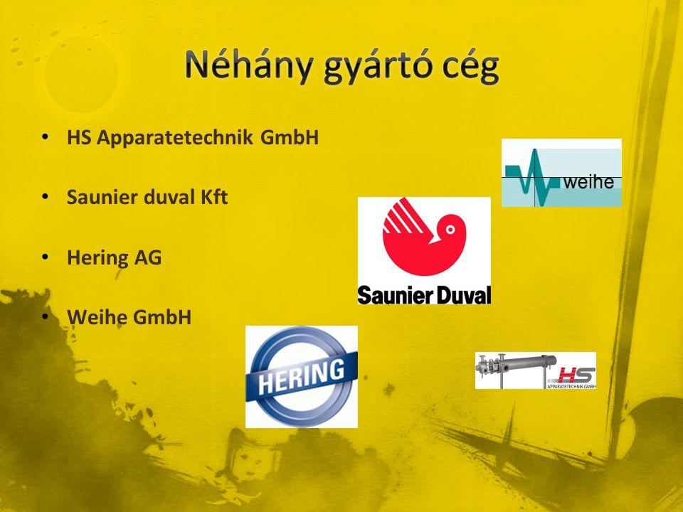 • HS Apparatetechnik GmbH • Saunier duval Kft • Hering AG • Weihe GmbH