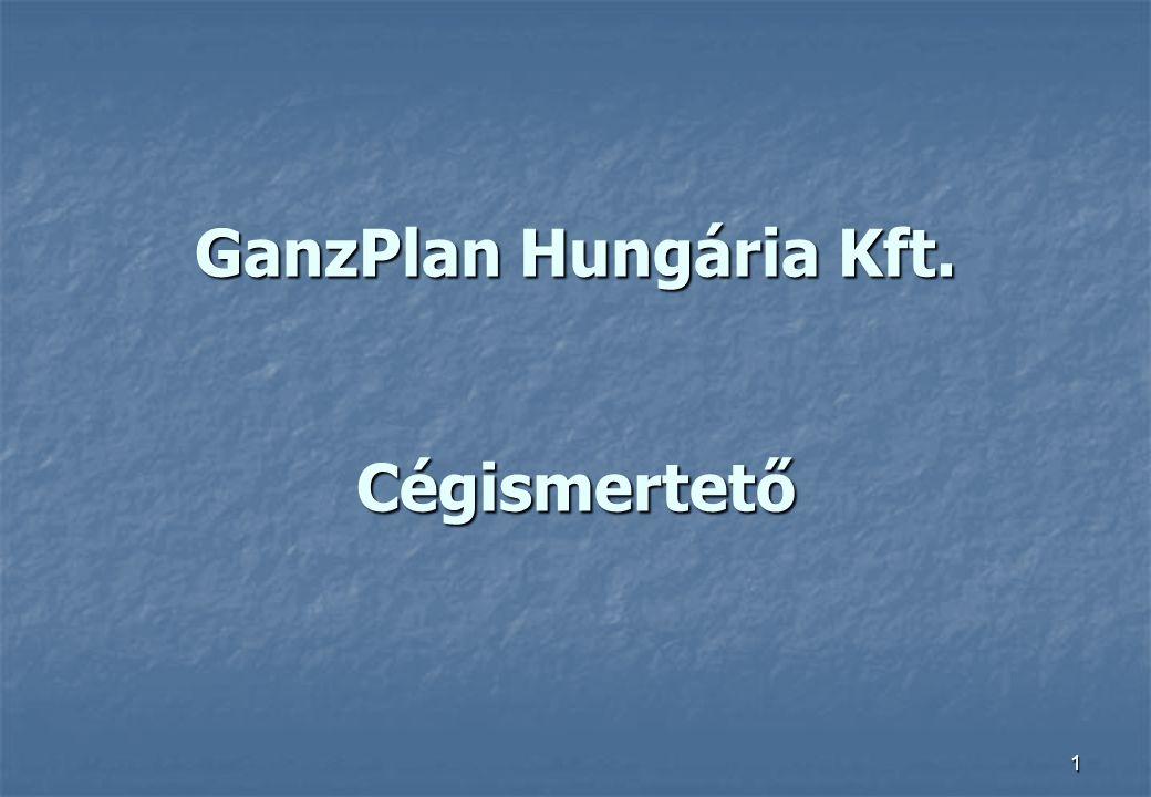 1 GanzPlan Hungária Kft. Cégismertető