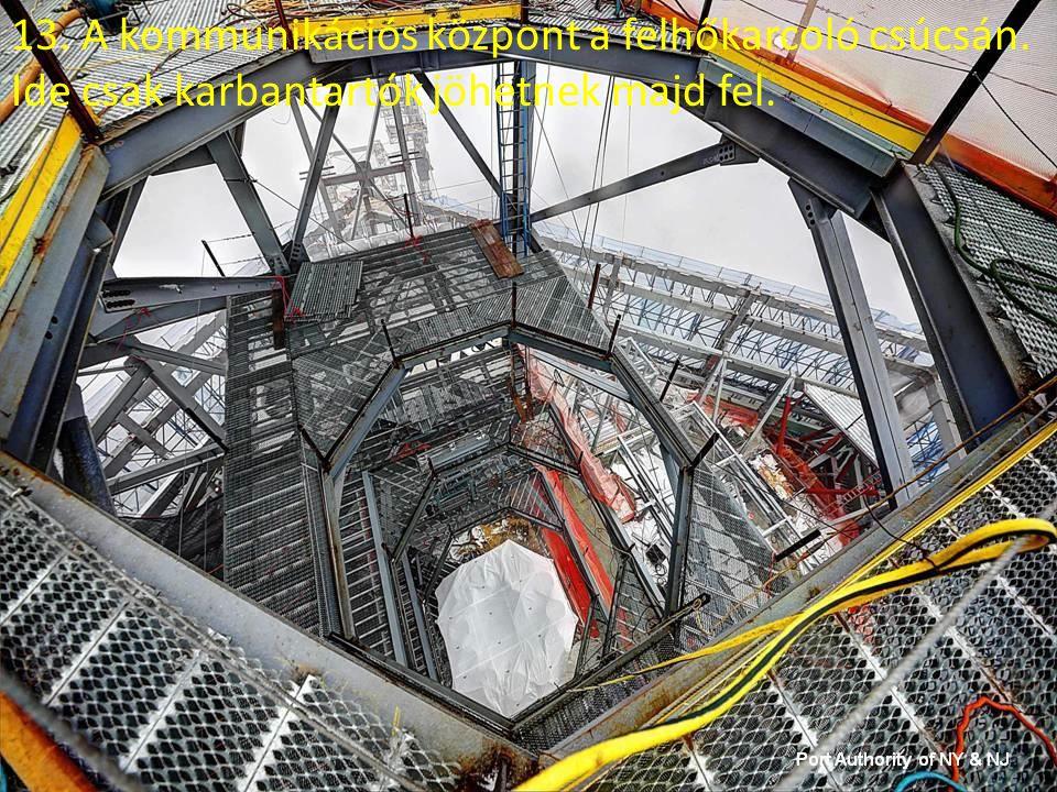 12. A lifteket mozgató motorok, darabjuk 25 tonna.