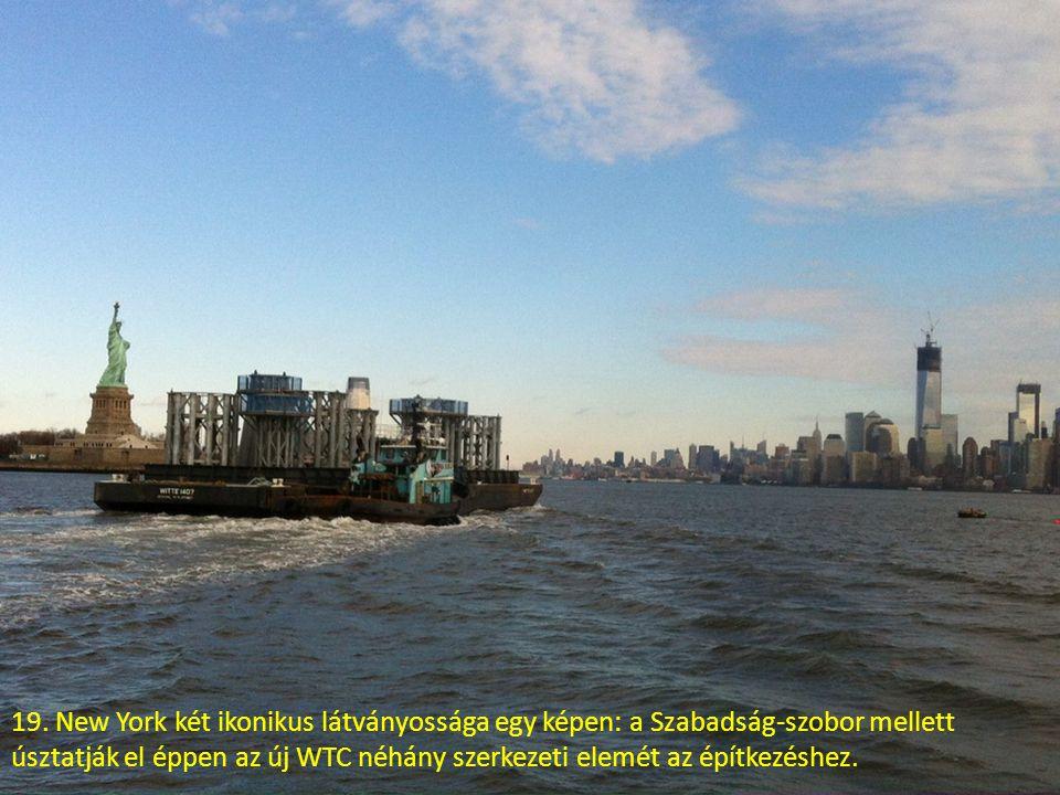 18. Dél-Manhattan a Wall Streettel a félkész 1WTC tetejéről.