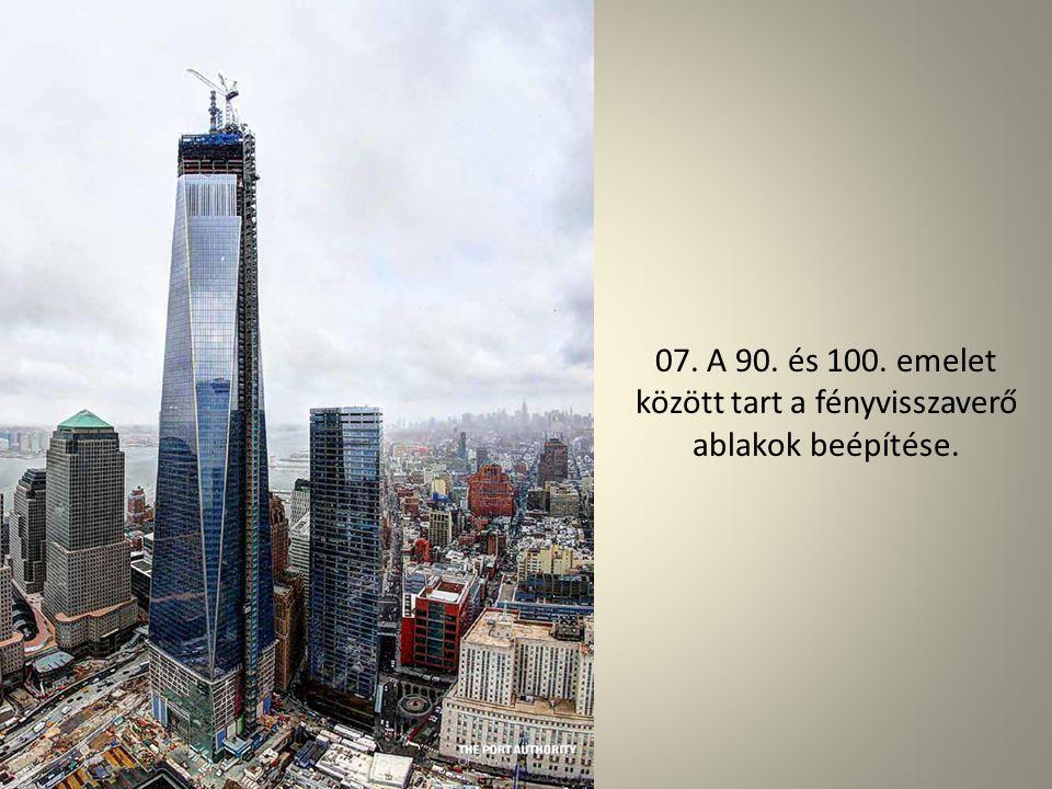 06. Ez a fémtüske lesz az új World Trade Center legtetején - itt éppen kijön a gyárból.