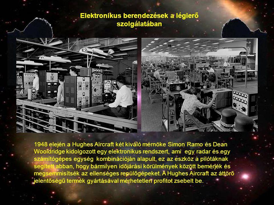 1948 elején a Hughes Aircraft két kiváló mérnöke Simon Ramo és Dean Wooldridge kidolgozott egy elektronikus rendszert, ami egy radar és egy számítógép