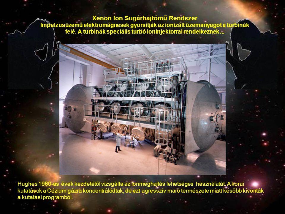 Hughes 1960-as évek kezdetétől vizsgálta az ionmeghajtás lehetséges használatát. A korai kutatások a Cézium gázra koncentrálódtak, de ezt agresszív ma