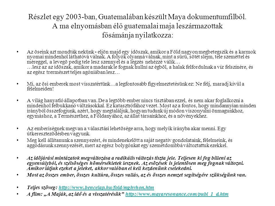 Részlet egy 2003-ban, Guatemalában készült Maya dokumentumfilből.