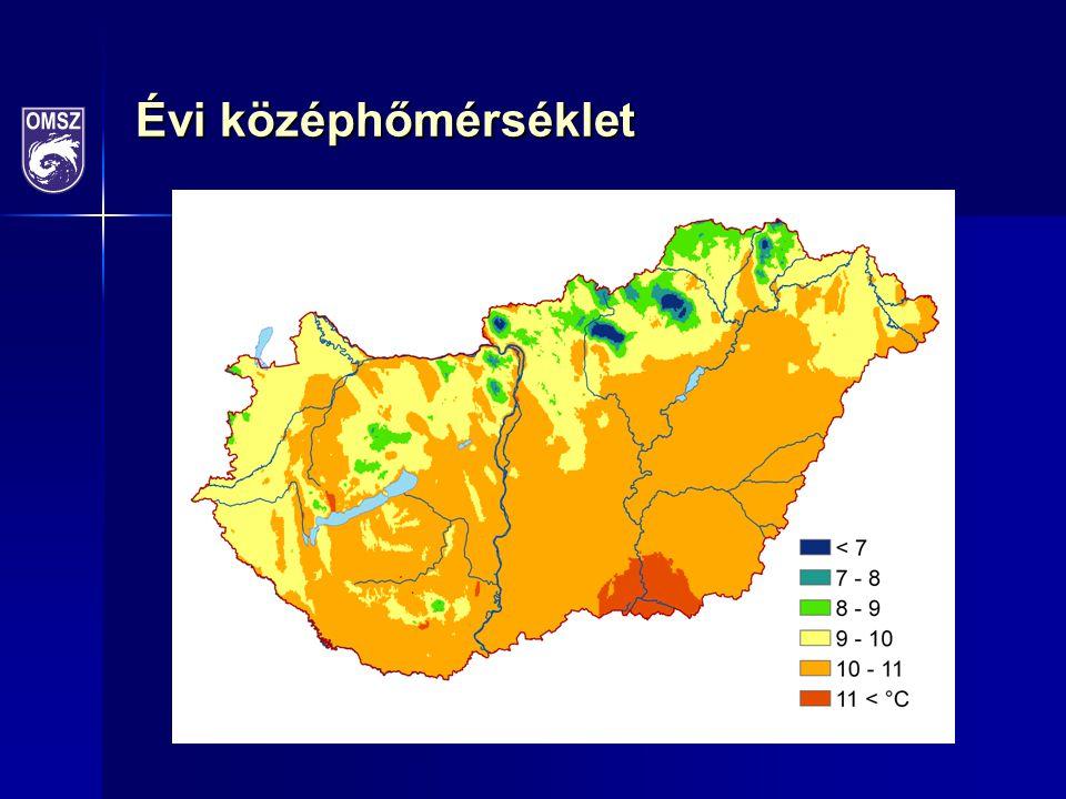1901-2010: 0,98°C 1981-2010: 1,17°C (homogenizált, interpolált adatok alapján)