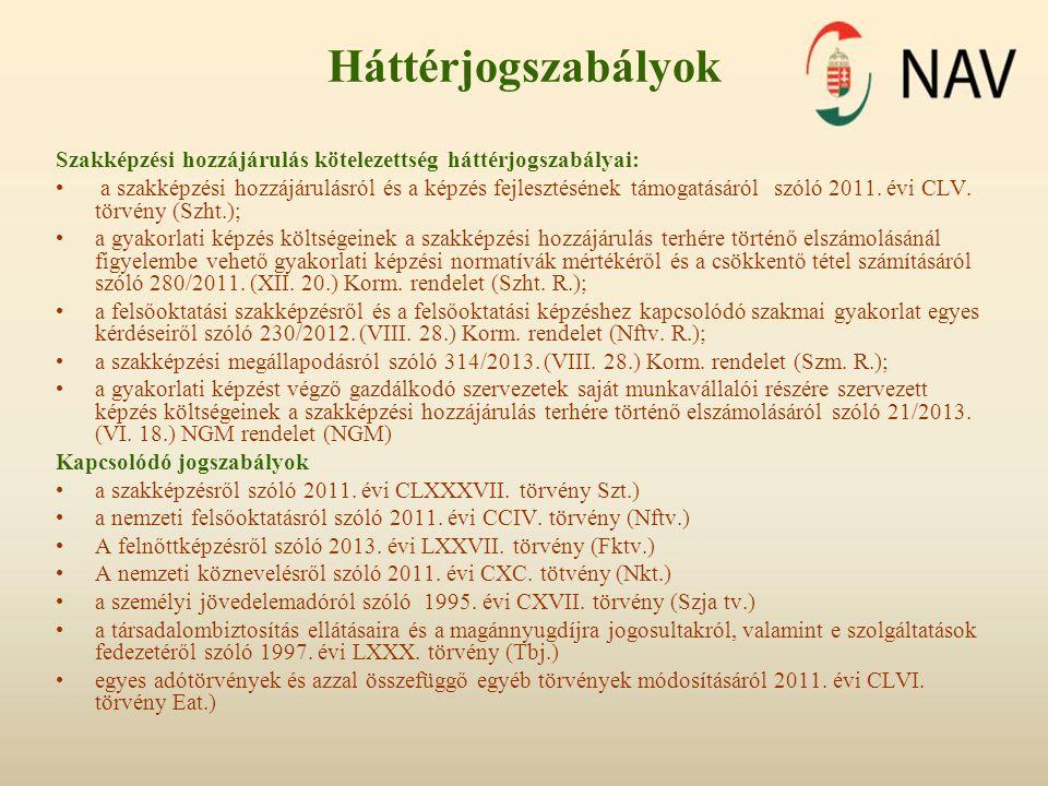 Szakképzési hozzájárulási alap megállapítása 2013.