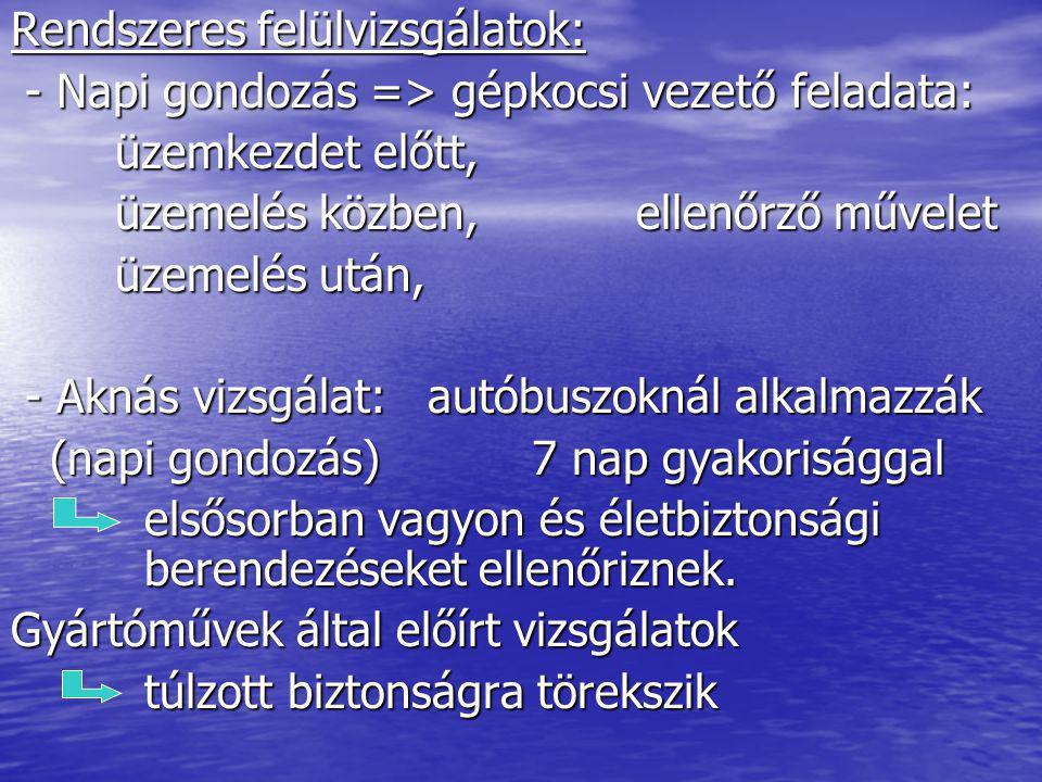 Opel Astra H=> korszerűsített karbantartási műveletek ECO szervizműveletei: 2001-től alkalmazzák (2 év garancia) Első szerviz: garanciális felülvizsgálat => 2000…5000 km között - olajcsere => SAE 5W/30 SL - olajszűrő csere - levegőszűrő csere Kötelező felülvizsgálatok: 1 év v.