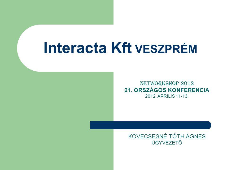 Interacta Kft Veszprém Tel/Fax: (88) 566-820, e-mail: interact@interacta.hu, www.interacta.huinteract@interacta.huwww.interacta.hu 8200 Veszprém Wartha V.