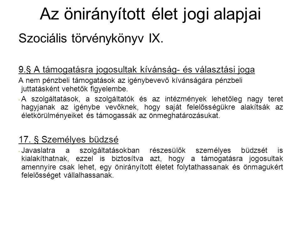 Szociális törvénykönyv IX.