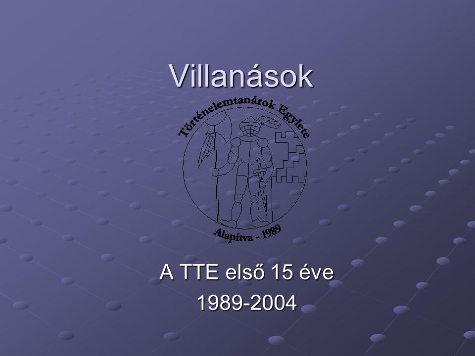 Villanások A TTE első 15 éve 1989-2004