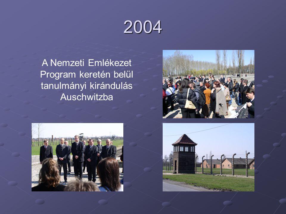 2004 A Nemzeti Emlékezet Program keretén belül tanulmányi kirándulás Auschwitzba