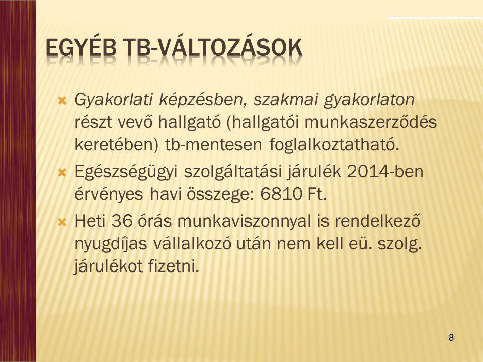 9  Jelenlegi előírások szerint: harmadik állambeliek 2 évnél hosszabb kiküldetése esetén Magyarországon 1.