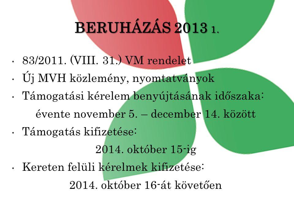 BERUHÁZÁS 2013 1.• 83/2011. (VIII.