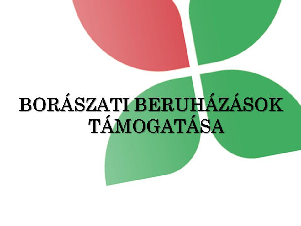 BORÁSZATI BERUHÁZÁSOK TÁMOGATÁSA