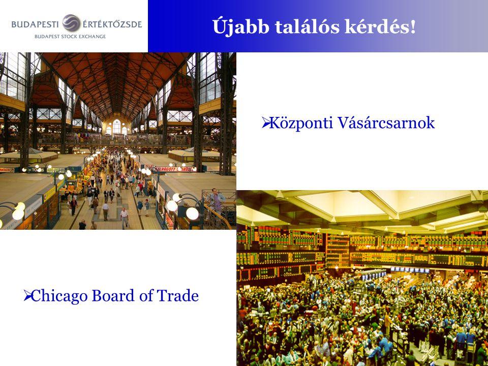 8.30 -tól 16.40 -ig A kereskedés három szakaszra oszlik A kereskedési idő – kereskedési szakaszok 8.309.00 16.30 Nyitó szakaszSzabad szakasz Egyensúlyi áras algoritmus keretében meghatározódik a nyitóár ajánlatgyűjtés Folyamatos ajánlatpárosítás Záró szakasz Egyensúlyi áras algoritmus keretében záróár Azonnali piacon 16.35-36 ajánlatgyűjtés Határidős piacon 16.36-37