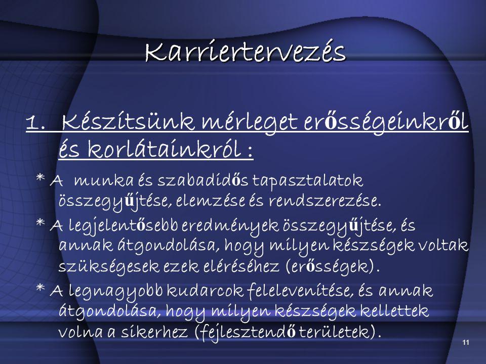11 Karriertervezés 1.