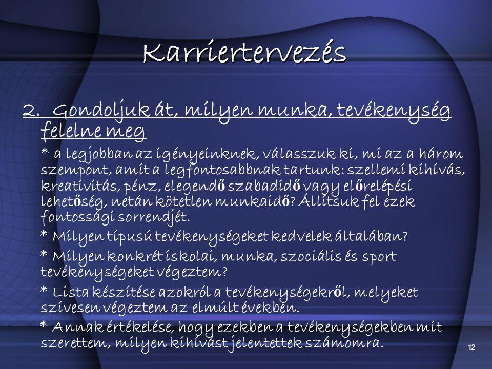 12 Karriertervezés 2.