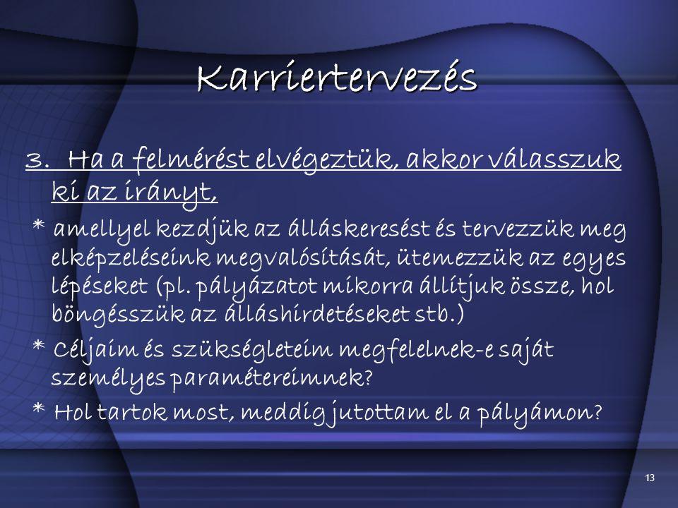 13 Karriertervezés 3.