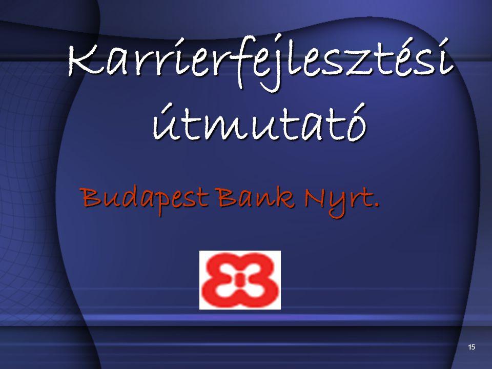15 Karrierfejlesztési útmutató Budapest Bank Nyrt.