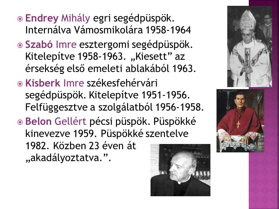  Endrey Mihály egri segédpüspök.