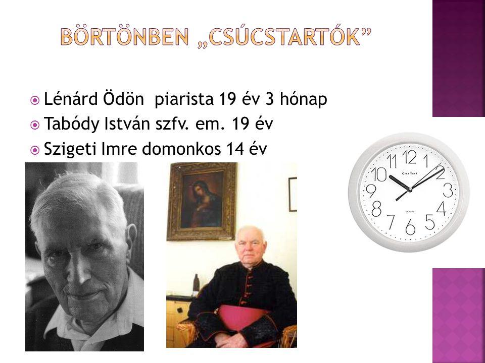  Lénárd Ödön piarista 19 év 3 hónap  Tabódy István szfv. em. 19 év  Szigeti Imre domonkos 14 év