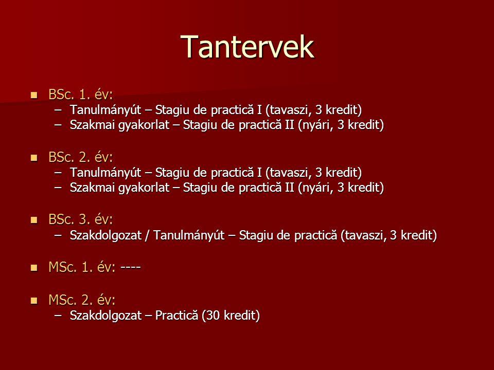 Tantervek  BSc.1.
