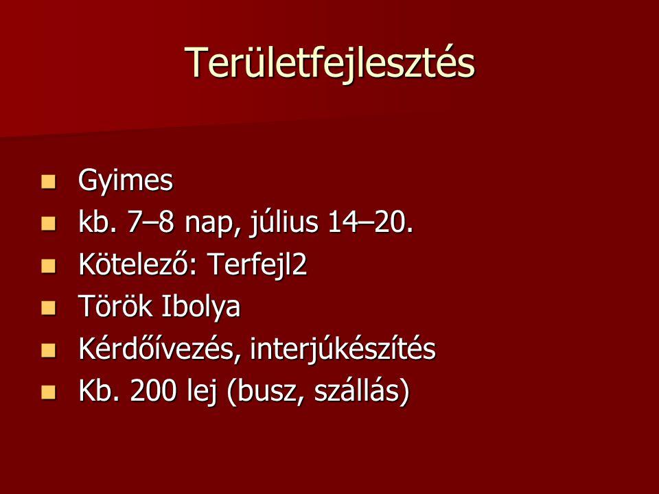 Tanulmányút / összefoglalás TANULMÁNYÚTFöldr1Földr2Terfejl1Terfejl2Tur1Tur2BSc3,MSc1-2 Budapest (Utazás Kiállítás) ajánlottajánlottrésztvehet Miskolc (Fenntartható fejlődés) ajánlottajánlottajánlottajánlottajánlottajánlottrésztvehet Dél-Alföld (Nemzetközi turizmus) ajánlottajánlottajánlottajánlottajánlottajánlottrésztvehet Máramaros (Építészet) ajánlottajánlottrésztvehet Moldva(Település-földrajz)ajánlottajánlottajánlottajánlottajánlottajánlottrésztvehet Északkeleti- Kárpátok (Geo- morfológia) ajánlottajánlottajánlottajánlottajánlottajánlottrésztvehet Szicília (Nemzetközi turizmus, Európa földrajza) ajánlottajánlottajánlottajánlottajánlottajánlottrésztvehet