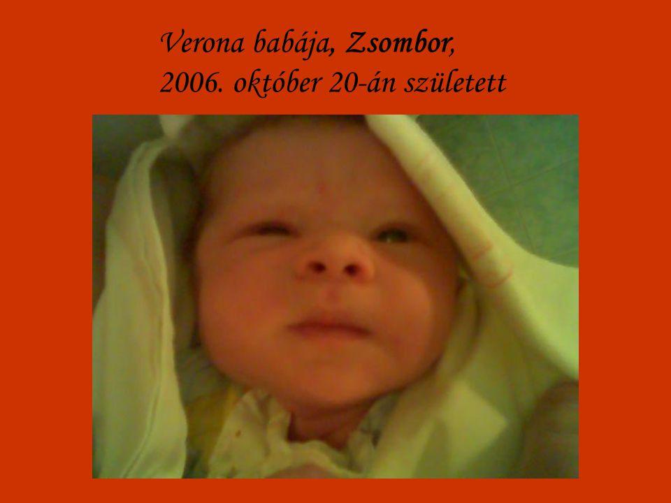 Verona babája, Zsombor, 2006. október 20-án született