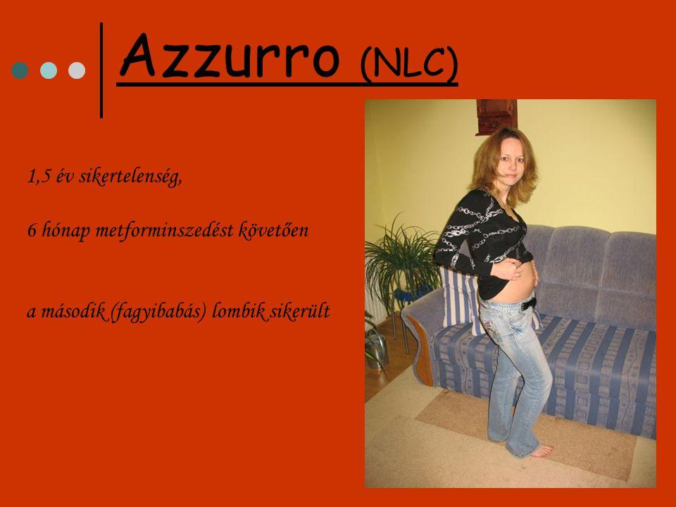 1,5 év sikertelenség, 6 hónap metforminszedést követően a második (fagyibabás) lombik sikerült Azzurro (NLC)