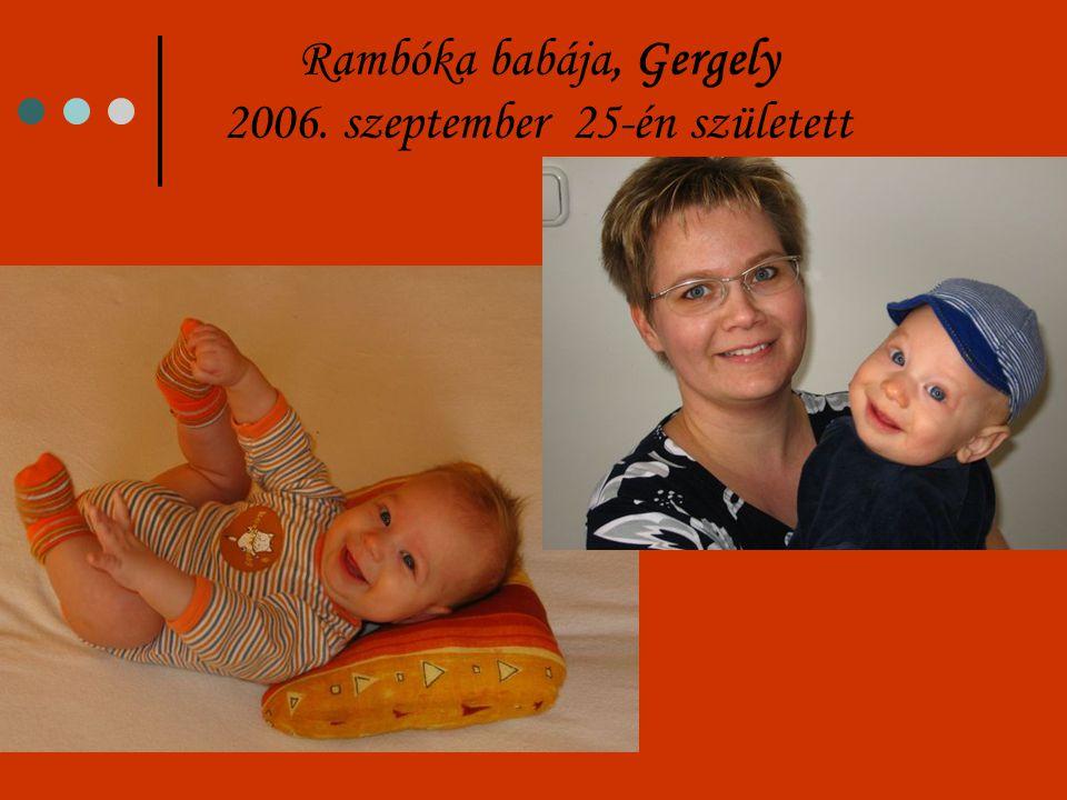 Sloky babáját, Márk Bendegúzt 2007. május 6-ra várjuk