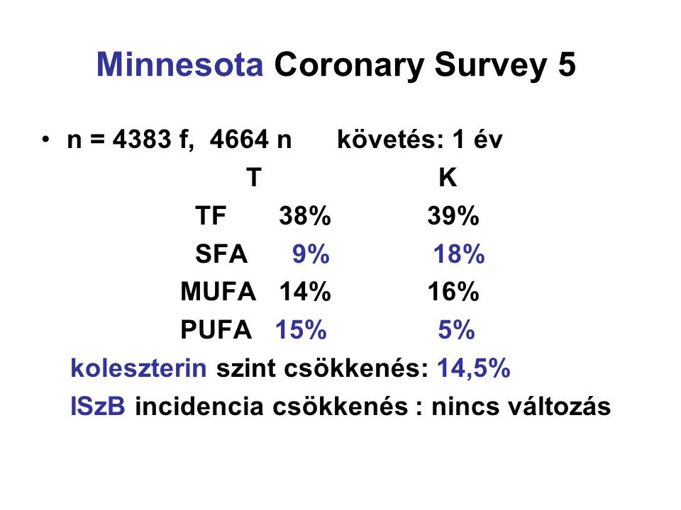 Minnesota Coronary Survey 5.