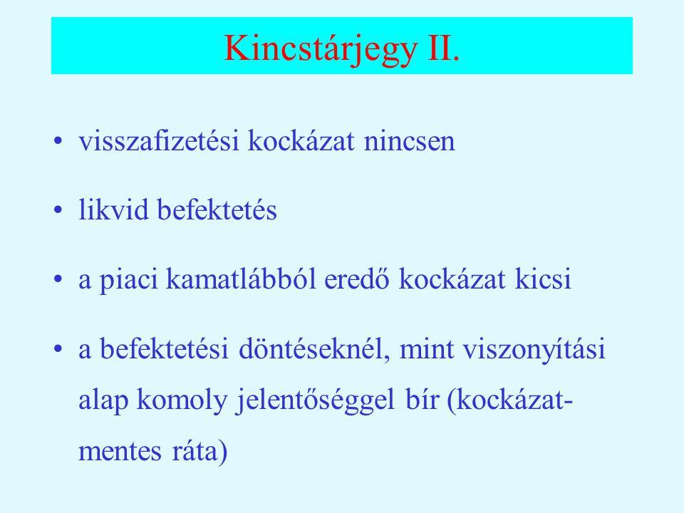 Kincstárjegy II.