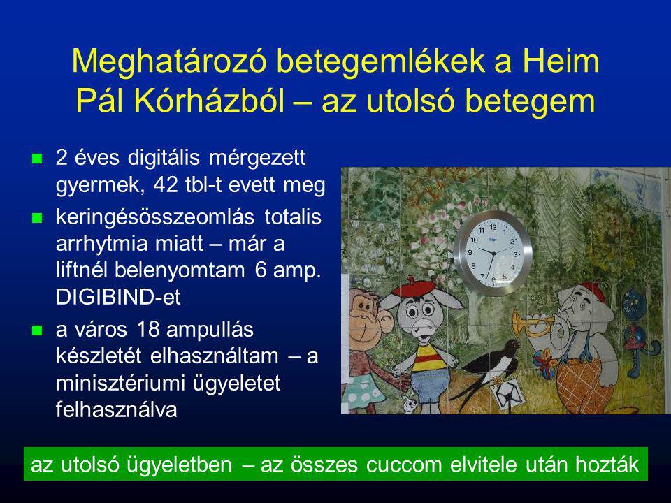 Meghatározó betegemlékek a Heim Pál Kórházból – az utolsó betegem n n 2 éves digitális mérgezett gyermek, 42 tbl-t evett meg n n keringésösszeomlás to